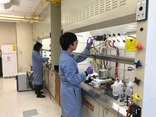 Ru hard at work in lab