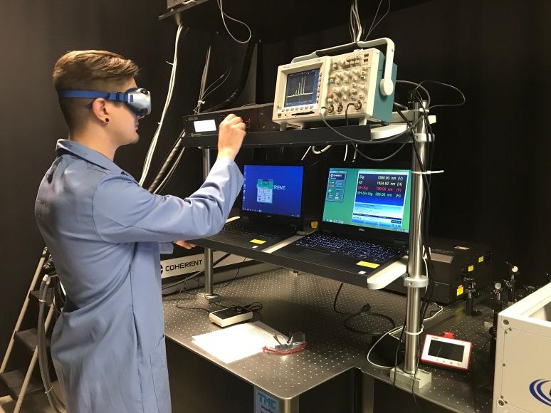 Jason in the laser lab