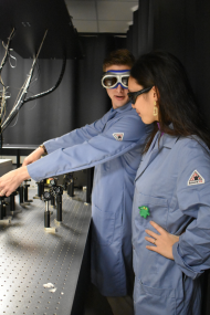 Jason and Soojin worked in the Laser lab.